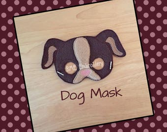Dog Felt Mask-Dress Up/Imaginary Play-Halloween Mask/Costume-Photo Prop-Birthday Party Favor-Theme Party-Puppy Mask