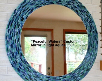 Peaceful Waters Stained Glass Mosaic Mirror