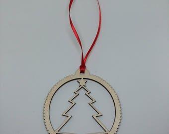 Christmas Tree Ornament, Christmas Tree, Wooden Christmas Tree, Wood Christmas Ornament, Wood Christmas Tree Ornament