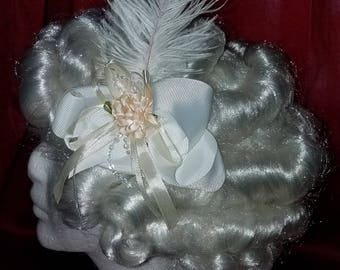 Bohemian Bride hair bow