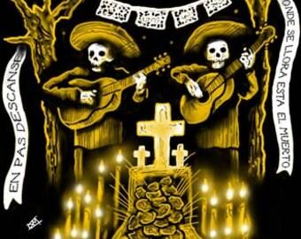 Day of the Dead Dia de los Muertos 11x17 Print