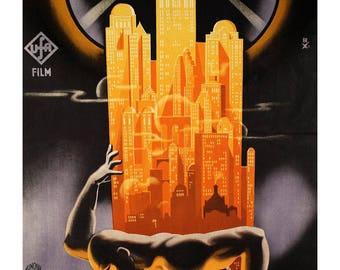 Poster - Metropolis - Hungarian poster - Fritz Lang - 1927 - fine art gallery