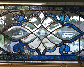 Elegant Stained Glass Panel
