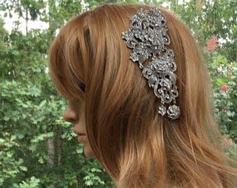 Bridal Wedding Hair Comb, Bridal Wedding Rhinestone Comb, Bridal Wedding Hair Accessory, Bridal Wedding Head Accessory