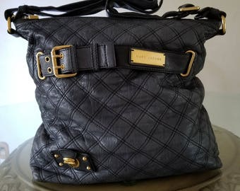 Quilted Marc Jacobs Handbag, Charcoal Handbag, Marc Jacobs Purse, Marc Jacobs Bag, Crossbody Bag, Designer Handbag, Designer Bag