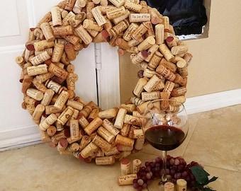 Assorted Wine Cork Wreath