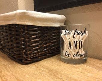 Bathroom Organizer cup, qtip holder