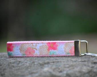 Flower Wristlet Key Fob