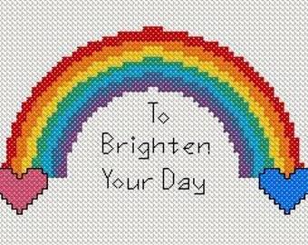 Rainbow - Cross Stitch - pdf pattern