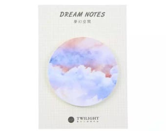 Starry Sky Sticky Notes Twilight Dream Memo Pad Office planner sticker Bookmark Stationery School Supplies - M13-1-11