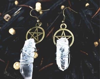 Wicca Star Earrings