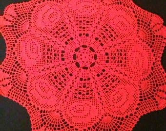 Crochet doily, Lace doily, Birthday gift, Round crochet doily, Handmade Gift, Gift ideas, Round table topper, Crochet Doilies, Gift for her