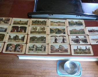 Vintage 1905 H. C. WHITE Company STEREOVIEWS Photo Cards lot of 22