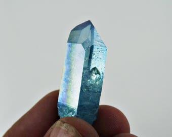 Aqua Aura Quartz Aqua aura Quartz Crystal Point Arkansas * B001