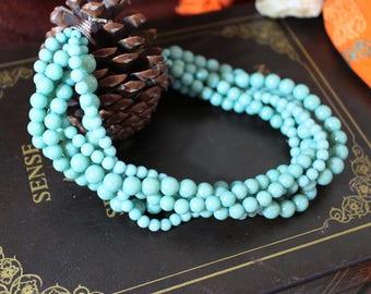 Blue Beaded Multi-Stranded Necklace
