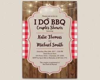 I Do BBQ Couples Wedding Shower Invitation