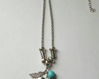 Owl, with inspirational quote necklace