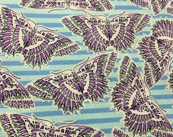 butterfly,butterflies, cotton,fabric, quilting, retro, rainbow, rainbows, butterfly fabric,striped, butterfly theme, stripes