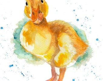 George the Duckling - archival prints of my original painting