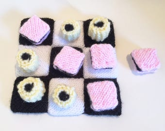 Knitted TIc Tac To Liquorice Allsorts