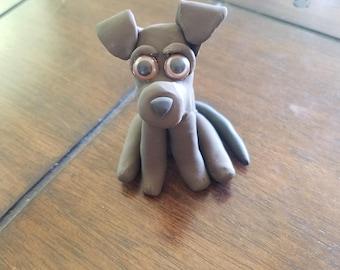 Brown dog sculpture