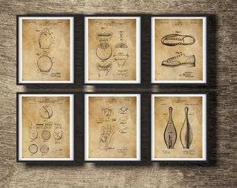 Bowling Pin | Bowling Pin Print | Bowling Set of 6 Vintage Prints | Bowling Gift | Bowling Art | Bowling Set of 6 Posters INSTANT DOWNLOAD