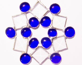 """5"""" Stained Glass Snowflake Sun Catchers-4 colors and clear"""