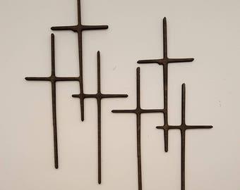 triple cross laser cut wood cross