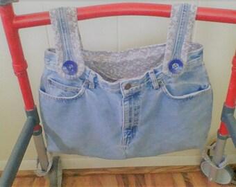 blue gray purple walker bag
