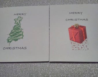 Multi-pack Christmas cards - trees & gift