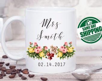 engagement mug, engagement gift, future mrs mug, future mrs, mr and mrs mugs, engaged mug , future mrs sash, mrs mug, personalized mug