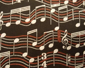 Music needle minder, music staff needle minder, music note