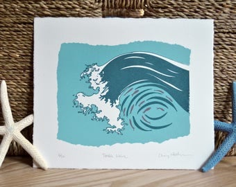 Tumble Wave Screenprint