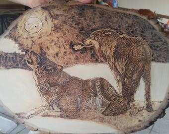 Howl At The Moon Woodburning