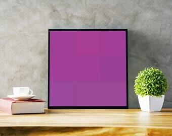 Automatic Colour Prints - Purple