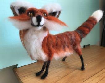 Handmade Needle Felted Wool Fox