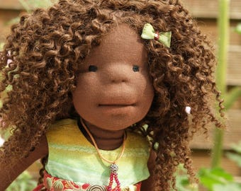 Natural fibre artist doll - Waldorf inspired doll - Waldorfpuppe