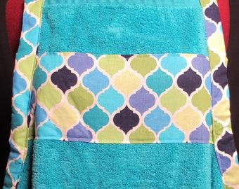 Blue Bath Towel Apron