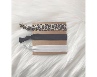 LEOPARD PRINT Elastic Hair Tie Set