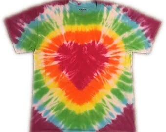 Rainbow Tie Dye Heart T-shirt, Rainbow Heart T-shirt, Heart T-shirt, Pride, Rainbow T-shirt, Tie Dye Heart T-shirt, Festival Fashion,Rainbow
