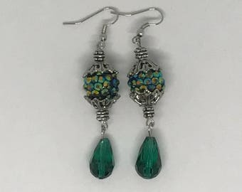 Super Bling Teal Earrings