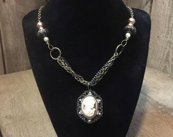 lady cameo necklace