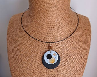 """Original necklace """"yellow and shades"""""""