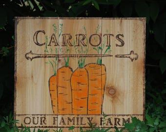 carrot garden sign