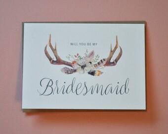 Bridesmaid Card - The Antler Range