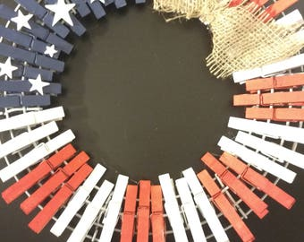 Patriotic handmade wreath