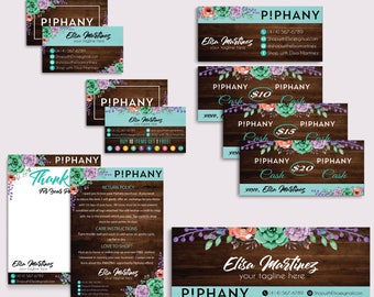 Piphany Marketing Kit, Piphany Starter Bundle, Custom Piphany Package, Piphany Card, Wooden Background, Printable Cards - Digital file PP06