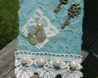 Vintage Shabby Chic Fabric Brooch