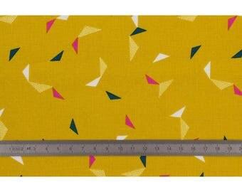 Cotton candy mustard fabric