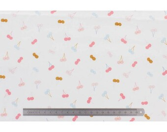 DASHWOOD HONEY COLORED CHERRIES WHITE FABRIC